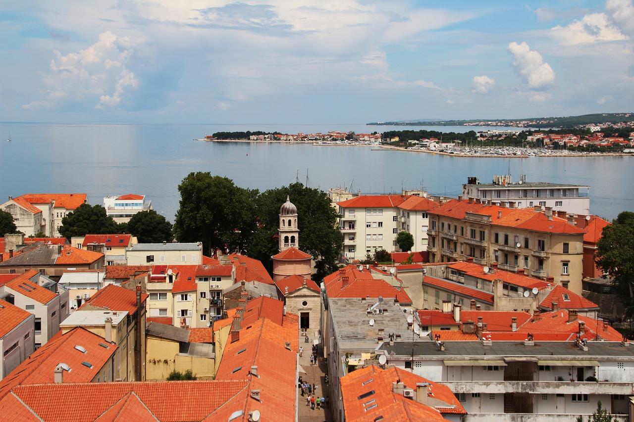 Zadar (Zára) Horvátország tengerpart