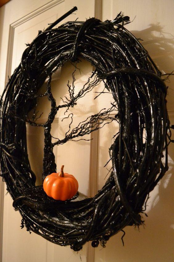 Halloween-i ajtódísz – egyszerűen rémisztő