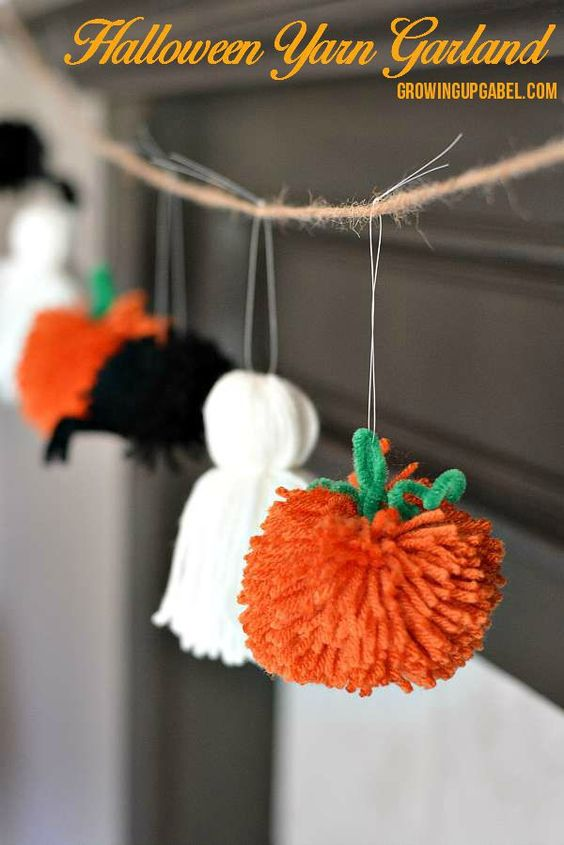 Halloween-i girland fonalból