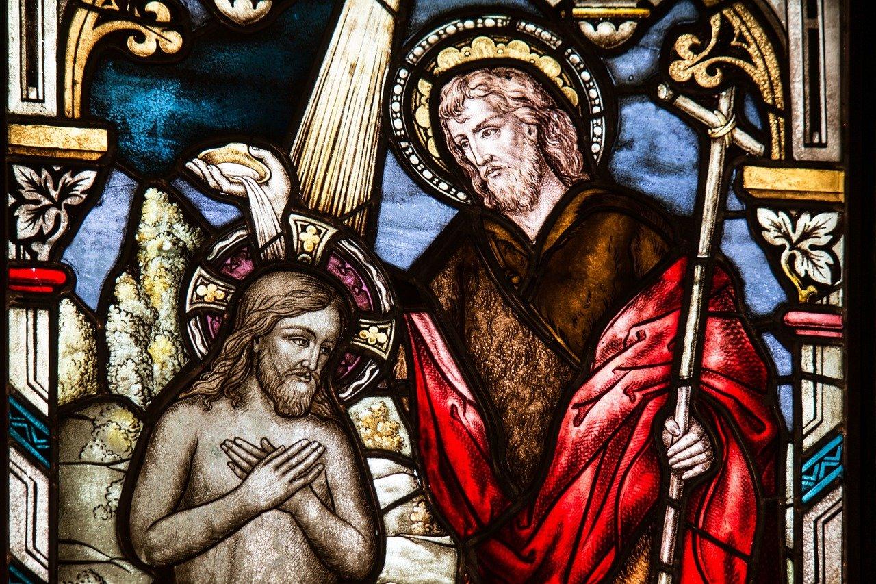 Vízkereszt: Keresztelő Szent János megkereszteli Jézust